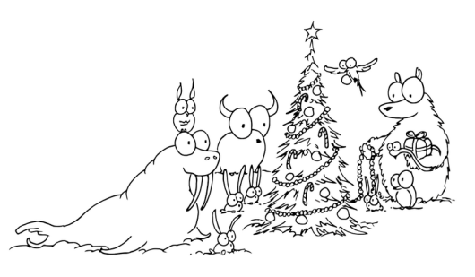 walrus christmas coloring sheet