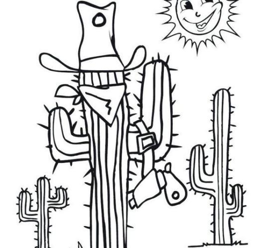 wild west cactus antenna coloring sheets