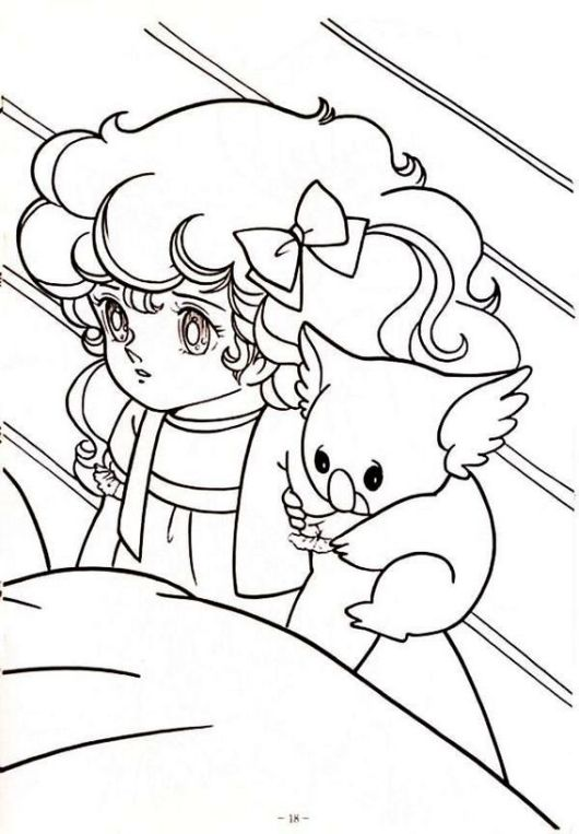 Beautiful Minky Momo Coloring Picture for Girls