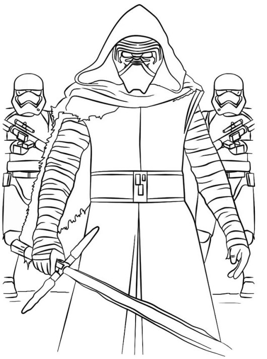 Best Star Wars Kylo Ren Coloring Sheet