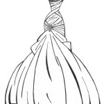 Best wedding gown coloring picture