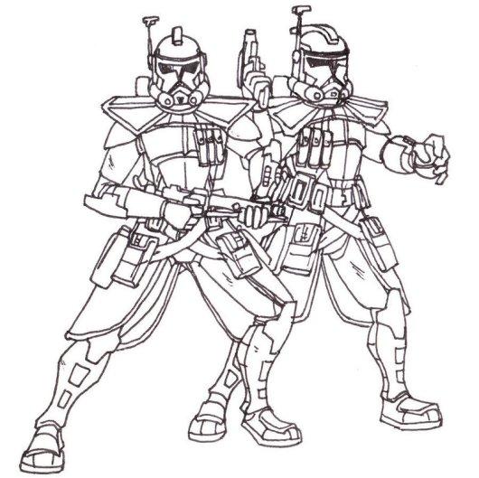 Clone ARC Trooper Captain Coloring Pictures
