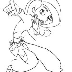 Kim Possible Hero Coloring Page for Girls