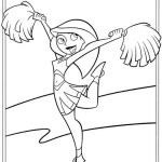 Kim Possible cheerleader coloring pictures