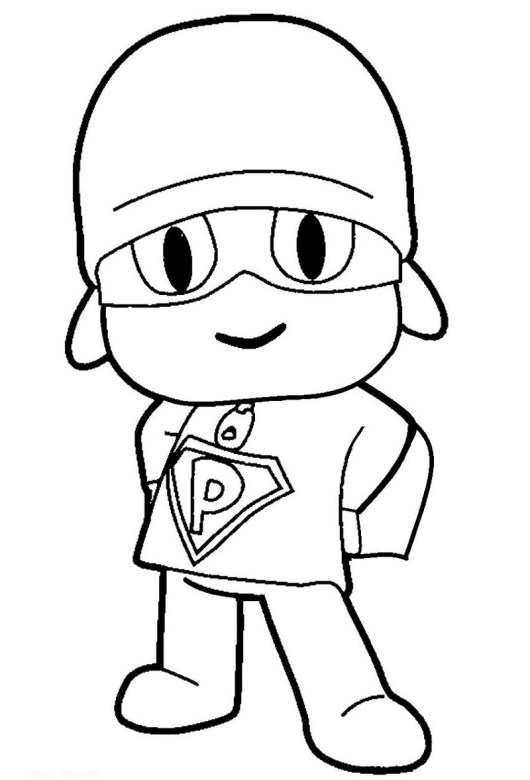 Lets Go Super Pocoyo Coloring Picture