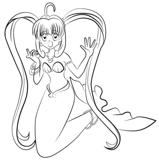 Lucia Nanami in Mermaid Melody Coloring Picture