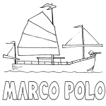 Marcopolo Ship History Coloring Pages
