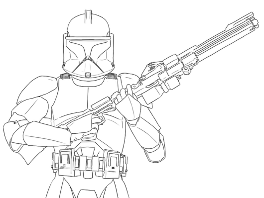 star wars clone trooper phase 1 coloring page - Star Wars Clone Trooper Coloring Pages
