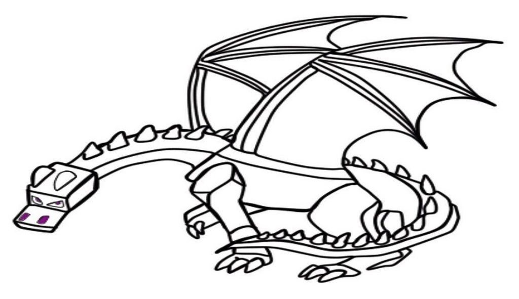 best ender dragon coloring page for children