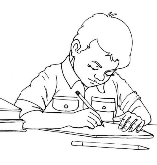 best homework coloring sheet for kids