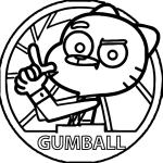 epic Gumball coloring sheet for children