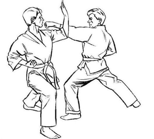karate tournament coloring pictures karate match sheets