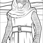kylo ren star wars coloring sheet