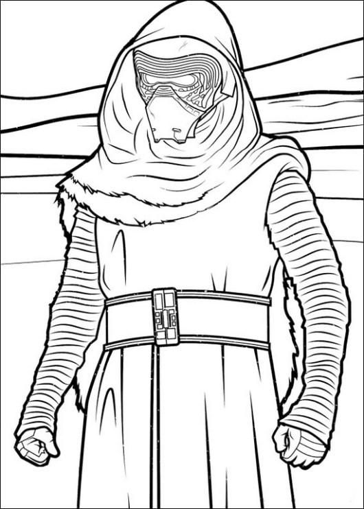 kylo ren star wars coloring sheet