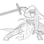 kylo ren warrior coloring picture