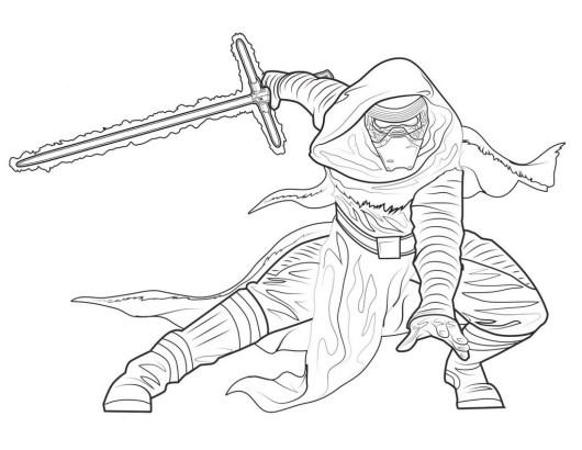 kylo ren warrior coloring picture