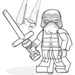 lego kylo ren coloring sheet for star wars fans