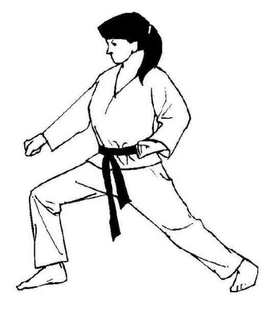 real karate girl coloring printable sheet