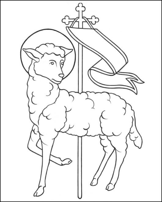 resurrection lamb of god coloring page