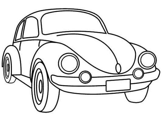 Volkswagen Beetle Car Coloring Picture For Kids