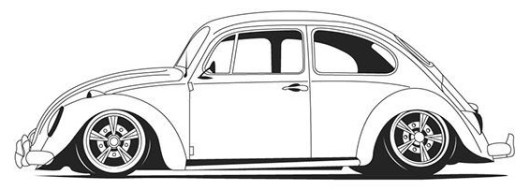 Volkswagen Beetle Sporty Coupe Coloring Page