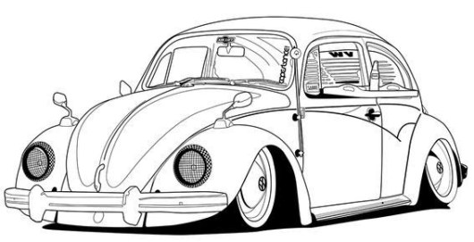 volkswagen new beetle coloring page classic vw beetle car sheet