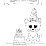 Beanie Boo Birthday theme Coloring Picture for Kids