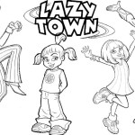 Best Lazy Town Coloring Page for Children