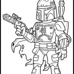 Lego boba fett coloring page for children