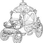 beautiful cinderella fairy tale pumpkin carriage design coloring sheet