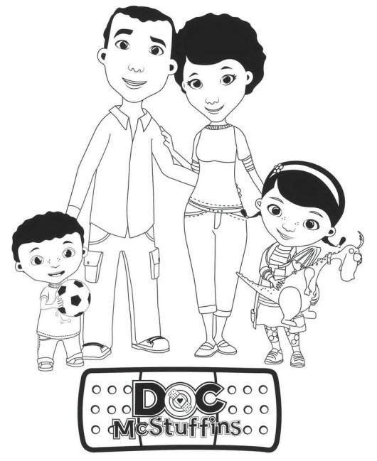 best doc mcstuffins coloring sheet for children