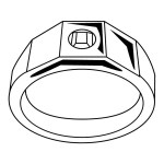 best ring sketch drawing clipart