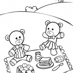 best teddy bear picnic coloring sheet