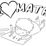 children loves math coloring page for kids