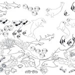 perfect coral reefs ocean coloring sheet