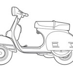 perfect vespa coloring sheet