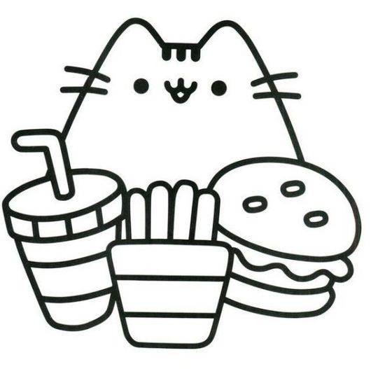Oh So Cute Kitty Pusheen The Cat Coloring Pages For Girls on Kids Coloring Pages Children Of World