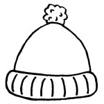 winter hat christmas coloring sheet for kids
