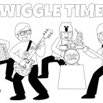 wonderful wiggles joining band coloring pages