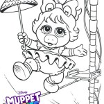 Baby Miss Piggy from Muppet Babies Coloring Pages