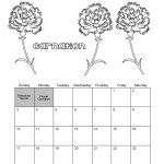 Best January Calendar Coloring Sheet
