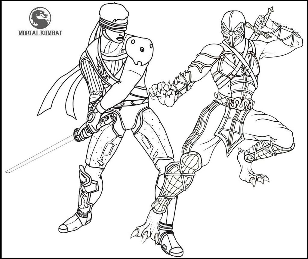 Best Mortal Kombat Battle Coloring Page