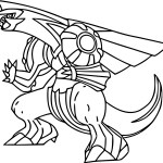 Dragon Palkia Pokemon Coloring Sheet
