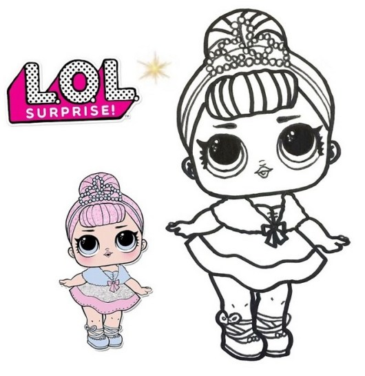 Fancy LOL Surprise Doll Coloring Sheet