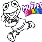 Kermit Muppet Babies Coloring Pages