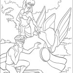 Milo and Princess Kida Atlantis Disney Coloring Page for Kids