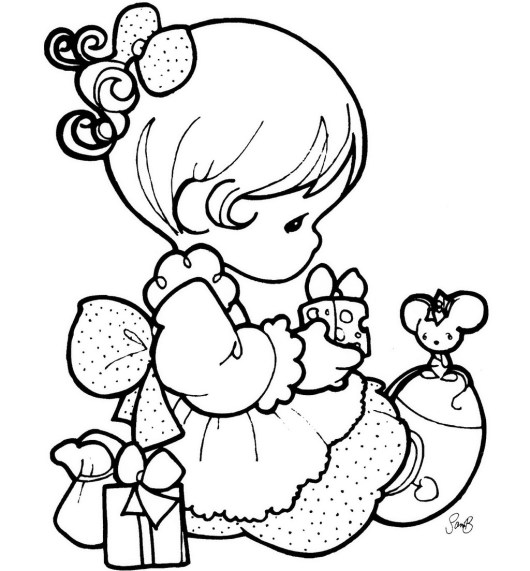 PRECIOUS MOMENTS and Mouse Coloring Sheet