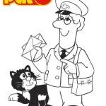 Pat Clifton Postman Pat Coloring Page