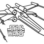 Poe X Wing Fighter Star Wars Coloring Sheet