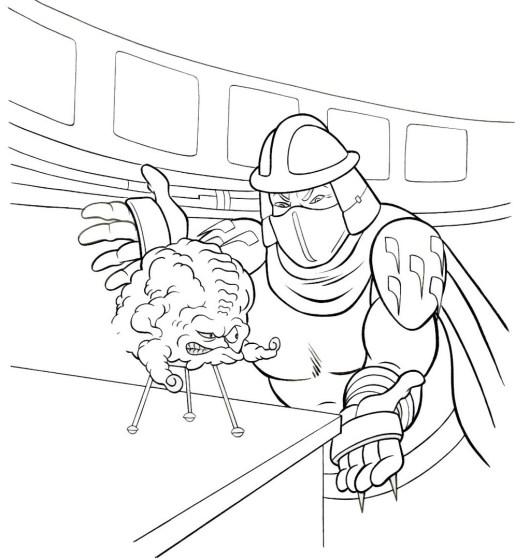 Shredder tmnt villain coloring lineart page